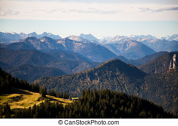Hike to the Wallberg, with view to the Lahnerkopf,...