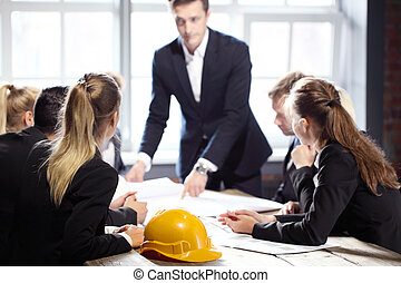 Construction business people meeting