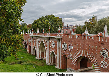 Tsaritsyno Park in Moscow - Greenhouse bridge in Tsaritsyno...