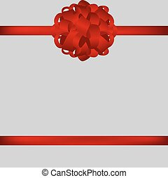 Red gift bow of ribbon vector illustration