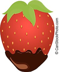 strawberry in chocolate - red strawberry in chocolate...