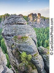 Rocks in the Elbe Sandstone Mountains (Saxony, Germany)