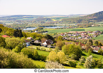 Village in Franconia - Landscape with a village in Franconia...