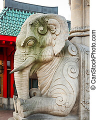 the elephant gate of zoo in Berlin - The entrance at...