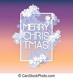 Snow frame with Merry Christmas text.