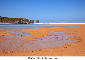 Liencres dunes nature reserve in the Cantabrian sea