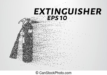 A fire extinguisher of the particles. A fire extinguisher...