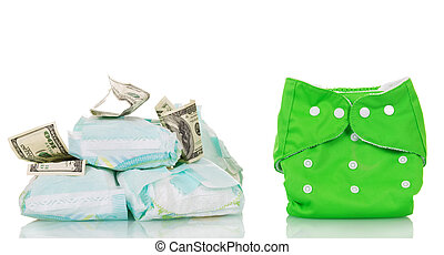 Reusable diaper saves money - Reusable and disposable...