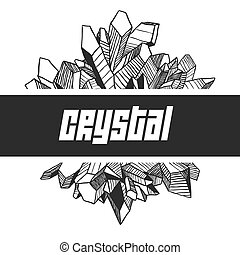Vector Isolated Element for Design. Abstract Crystals Hand...