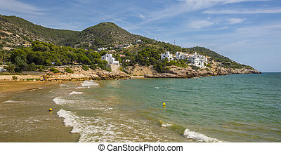 The beaches of Sitges, Catalonia, Spain