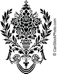 Vector Greek Vase Ornament - Vector Greek or Roman floral...