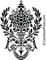 Vector Greek Vase Ornament - Vector Greek or Roman floral...