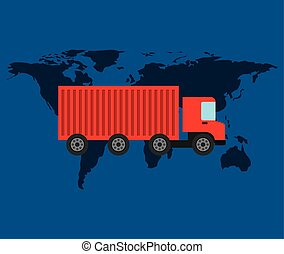 globe world delivery truck container transportation