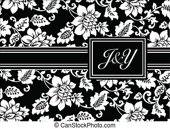 Vector Initials and Pattern Background