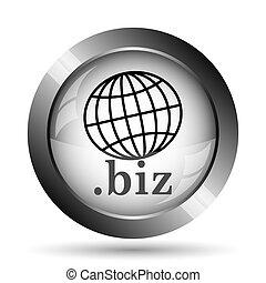 .biz icon. .biz website button on white background.