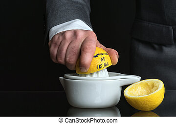 Concept for Business as usual with Man and Lemon - Concept...