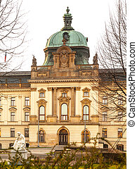 Historical building of Government in Prague, Czech Republic