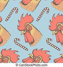 Vector Rooster bird illustration