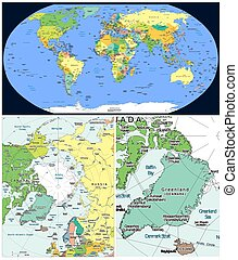 Arctic region and world - World and Arctic region