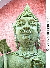 red siddharta in the temple bangkok asia - siddharta in the...