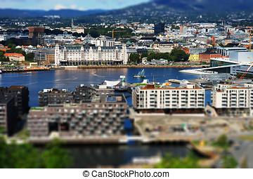 Oslo city cityscape background  hd