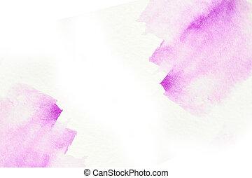 vattenfärg, abstrakt,  blots, vit, bakgrund