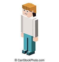 lego silhouette worker with helmet vector illustration