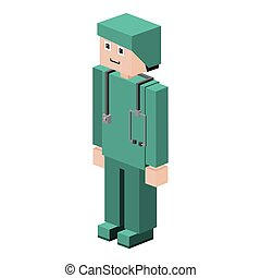 lego silhouette with male nurse vector illustration