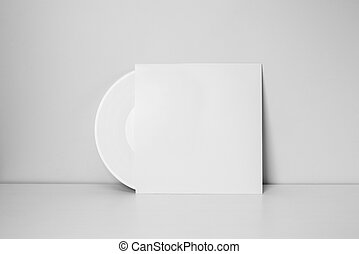 white vinyl record in paper case - white vinyl record in...