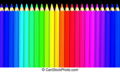 Color Pencils. Loop able 3DCG render Animation.