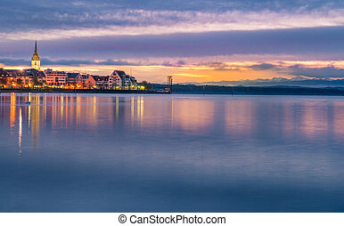 Bodensee lake in the sunrise colors - Enchanting landscape...
