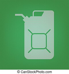 Jerrycan oil sign. Jerry can oil sign. white icon on the...