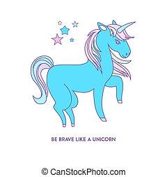 Unicorn icon character 01