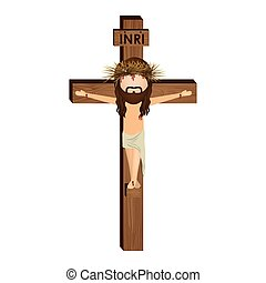 avatar crucifixion of Jesus Christ vector illustration