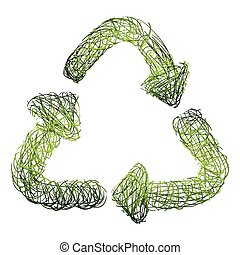 abstract arrows of recycling symbol