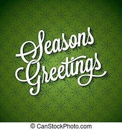 Seasons Greetings Vintage Lettering Background 10 eps
