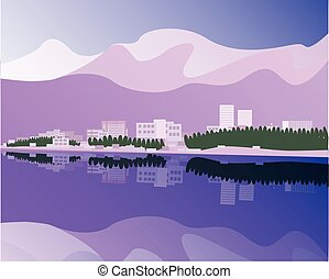 Anchorage - vector illustration of Anchorage