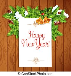 New Year best wishes vector poster - New Year congratulation...