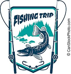 Fishing trip sport adventure club sign