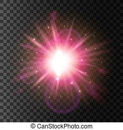 Shining star light. Lens flare sparkling effect - Light...