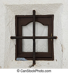 A small window on the facade