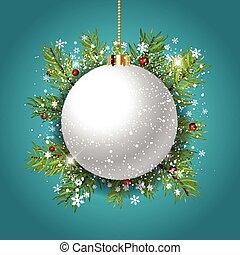 Decorative Christmas bauble background - Decorative...