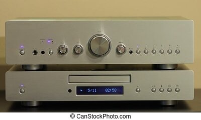 Cd player playing a disc - Cd played on a hi-fi system