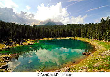 Alpine lake Italy - A typical alpine sky in the hearth of...