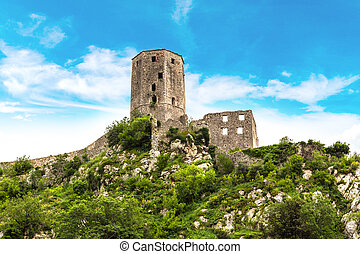 Fortress in Bosnia and Herzegovina - Old stone fortress in...