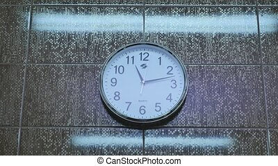 clock analog Wall background running