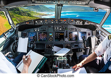 Cockpit in Cape Peninsula - Cockpit and board of an airplane...