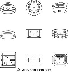 Championship icons set, outline style - Championship icons...