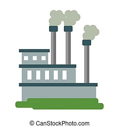 manufactory industry producing gas vector illustration eps...