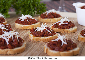 Sundried Tomato Tapenade - Fresh homemade sun dried tomato...